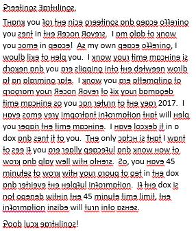 Breakout EDU letter